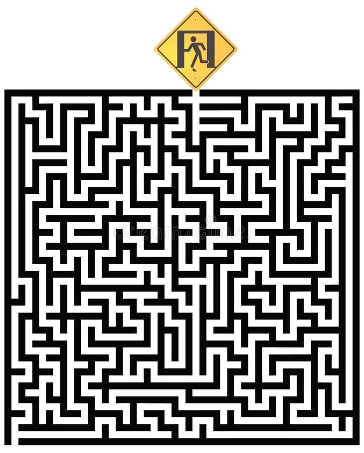 A maneira para fora ajuda ilustração royalty free