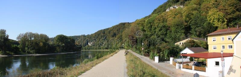 Maneira romântica em Danúbio em Kelheim foto de stock royalty free