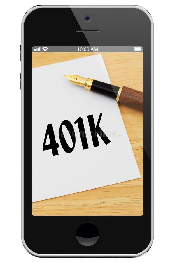 Manejando su 401k en línea fotografía de archivo