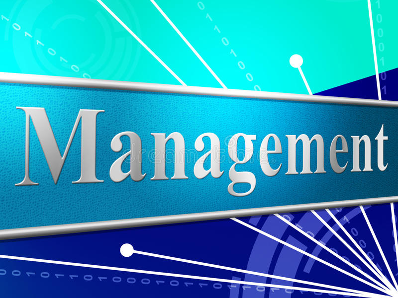 Maneje a la gestión representa al encargado And Boss de la autoridad libre illustration