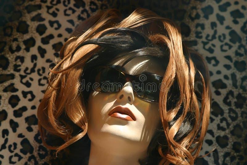 manekin czerwone włosy zdjęcia stock