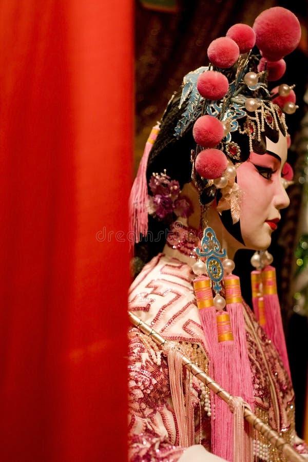 Manequim chinês da ópera de Ásia com espaço do texto fotografia de stock royalty free