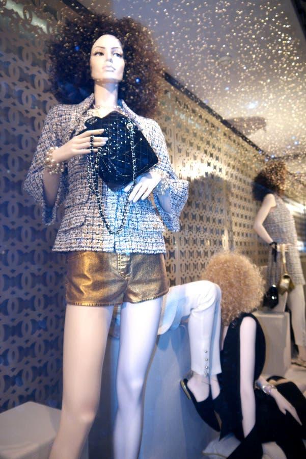 Manequim elegante da janela, Paris imagem de stock royalty free