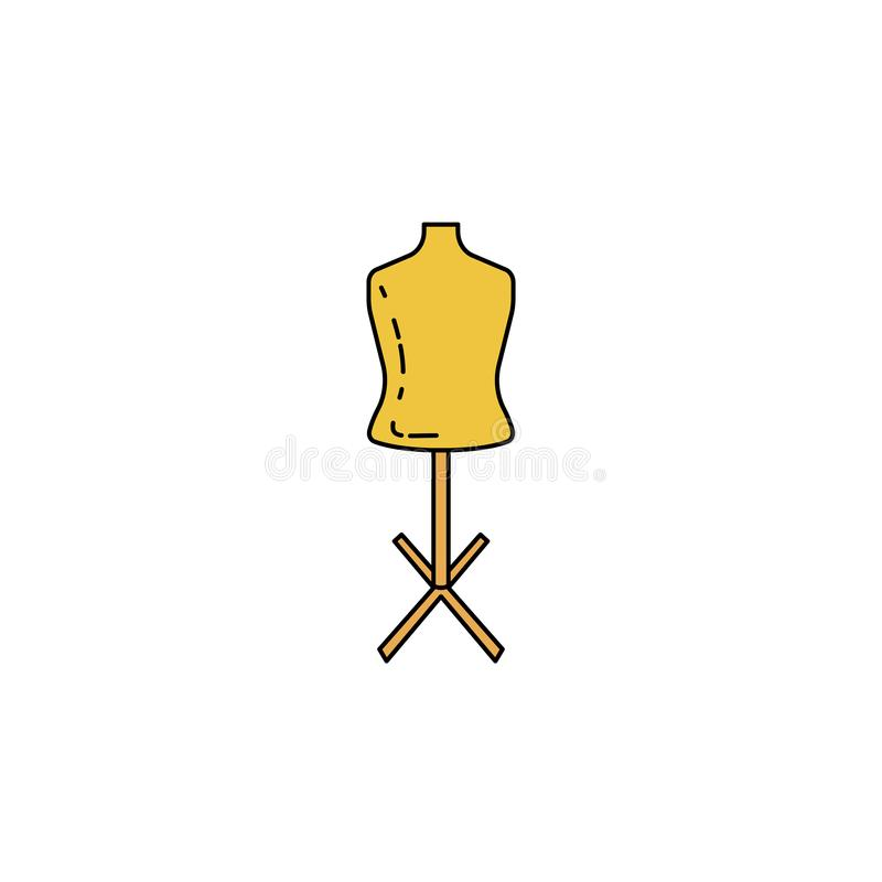 manequim para costurar o ícone da cor do esboço ilustração do vetor