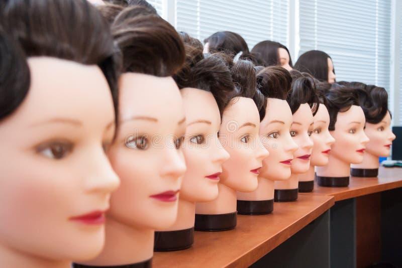 Manequins com penteado fotografia de stock royalty free