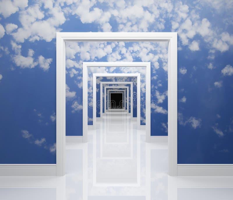 Manera al cielo ilustración del vector