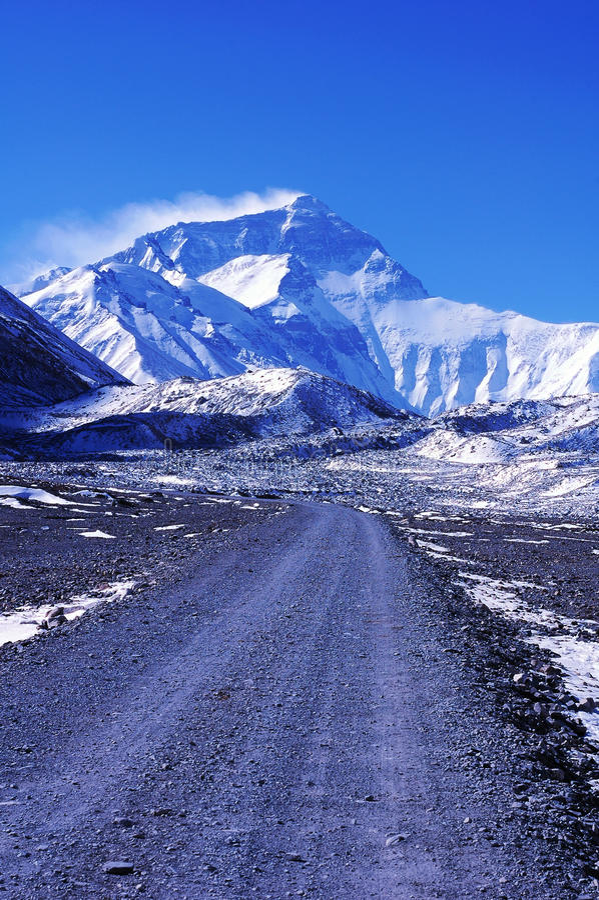 Manera al montaje Everest fotografía de archivo