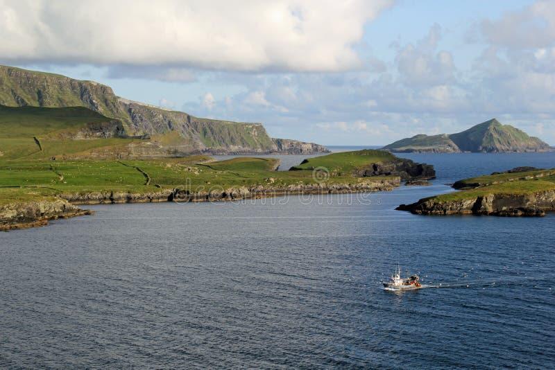 Manera atlántica salvaje, Portmagee foto de archivo libre de regalías