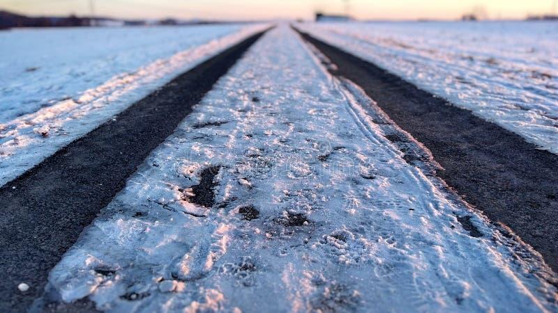 Manera de la nieve imagenes de archivo
