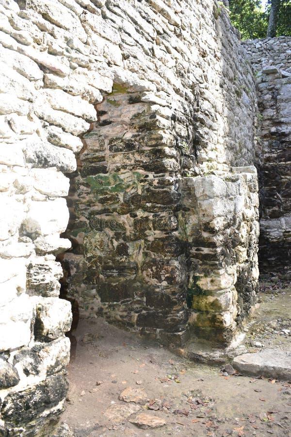 Manera del arco usada para incorporar primero la construcción, ruinas mayas antiguas, Coba México imagen de archivo libre de regalías