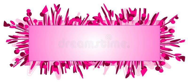 Manera del color de rosa de la insignia del Web page ilustración del vector