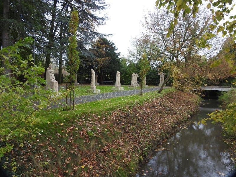 Manera del rosario - Puurs/Kalfort - Bélgica imágenes de archivo libres de regalías