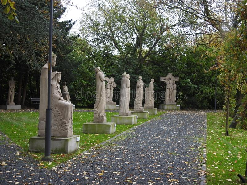 Manera del rosario - Puurs/Kalfort - Bélgica imagen de archivo