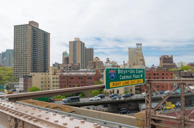 manera expresa del Brooklyn-Queens imagen de archivo