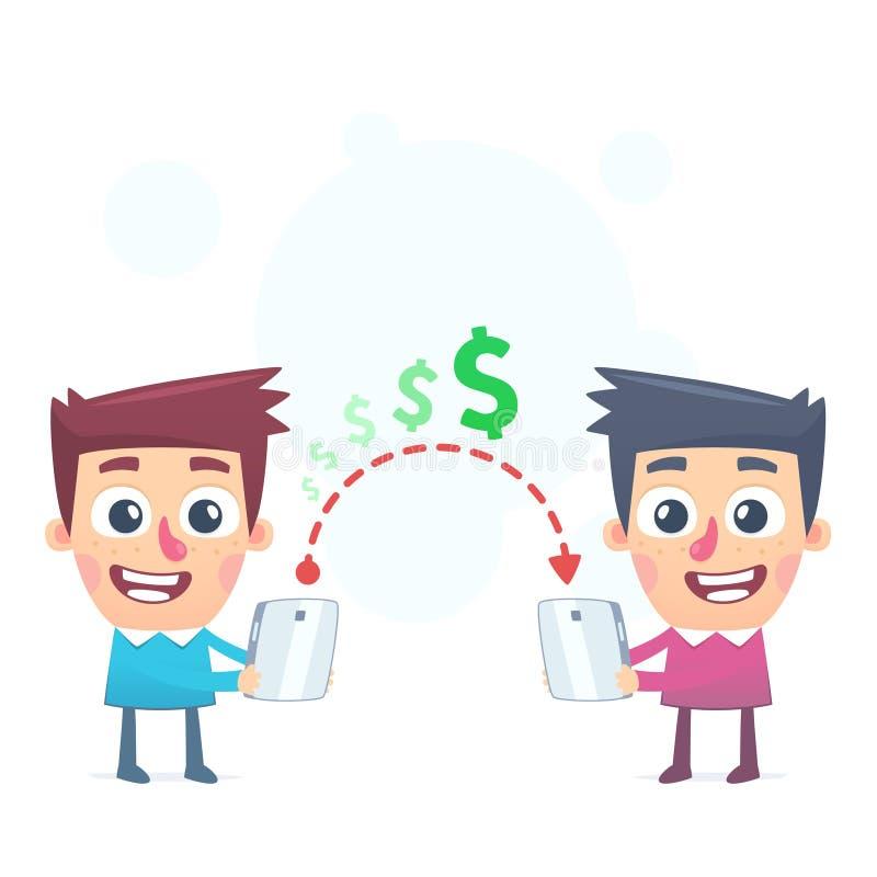 Manera fácil de enviar el dinero ilustración del vector