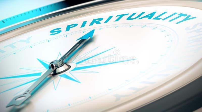 Manera a la espiritualidad stock de ilustración