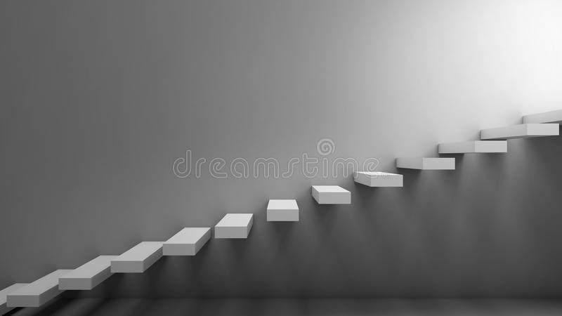 Manera a la libertad Escaleras en un estilo minimalista ilustración del vector