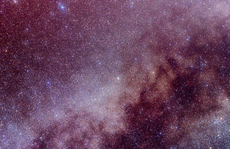 Manera lechosa en la constelación del Cygnus fotografía de archivo