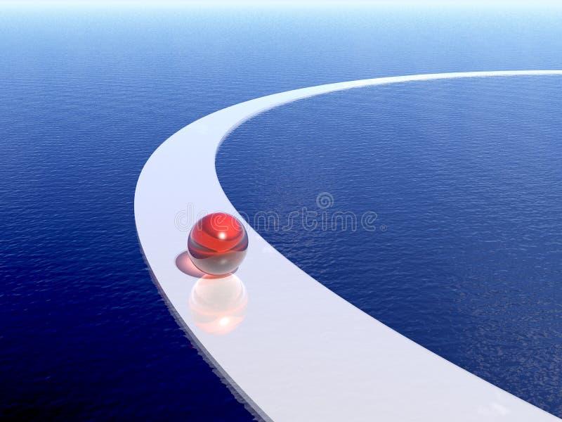 Manera y mar stock de ilustración