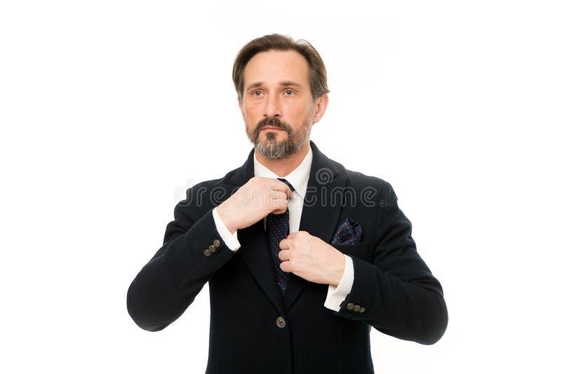 Maneras de complementar su traje Anunció aplanadores del traje cada portador El traje imbuye el sentido de la confianza de caball imagen de archivo