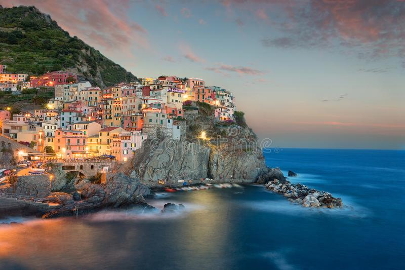 Manerola Cinque Terre, Włochy - zdjęcia royalty free