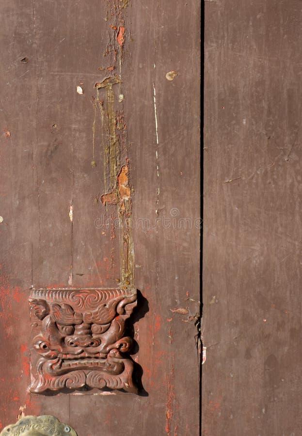 Maneta de puerta china vieja fotos de archivo libres de regalías