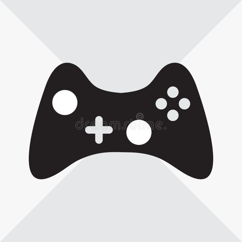 Manette noire et blanche pour des jeux d'ordinateur Illustration de vecteur illustration de vecteur