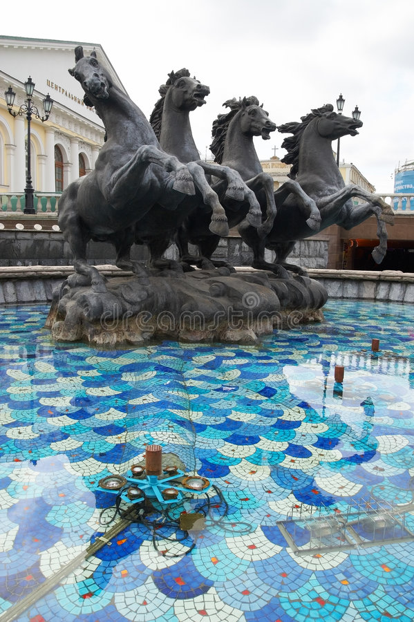 Manez Square In Moscow. Royalty Free Stock Photo