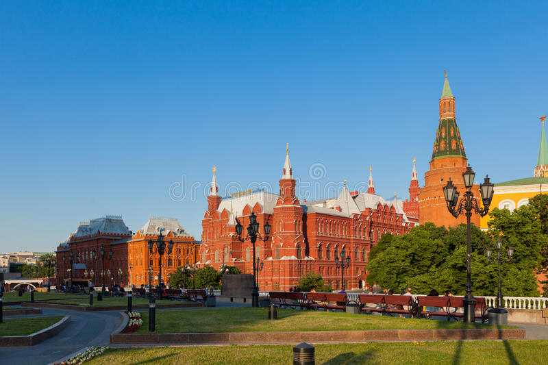 The Manezh Square in Moscow stock photography