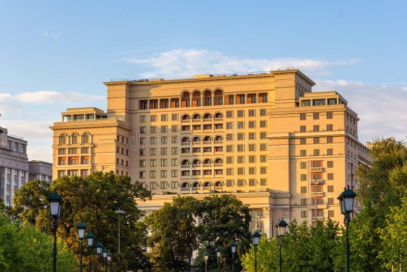 Manezhnaya广场的旅馆Moskva 图库摄影