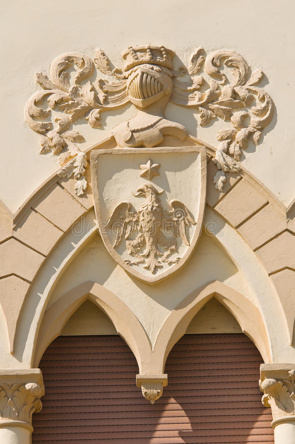 Manfredi Palace. Cerignola. La Puglia. L'Italia. fotografie stock