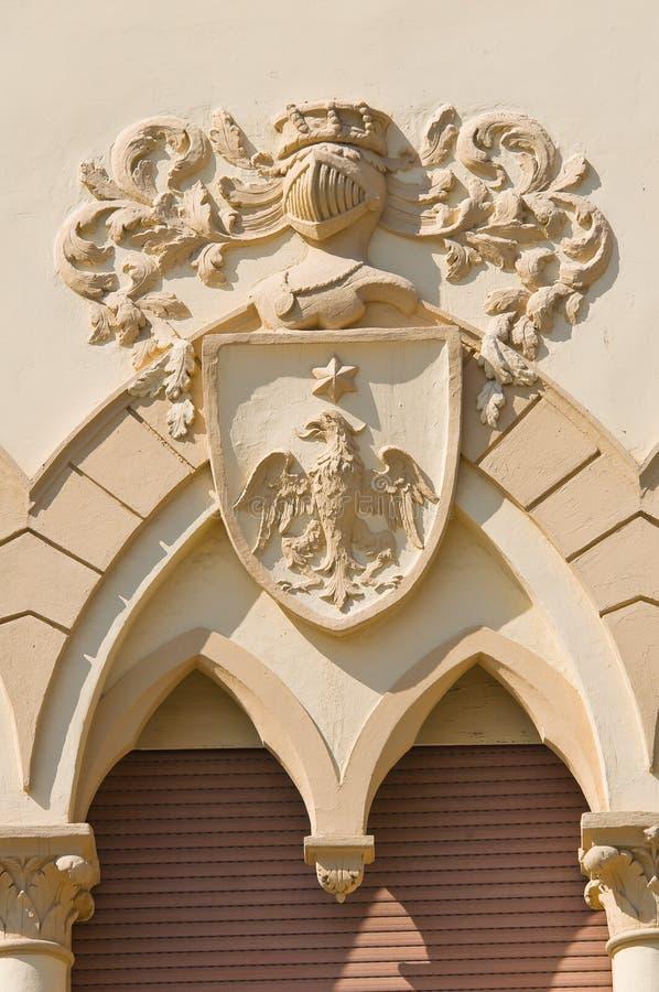 Manfredi Palace. Cerignola. Puglia. Italy. Detail of the Manfredi Palace. Cerignola. Puglia. Italy stock photos