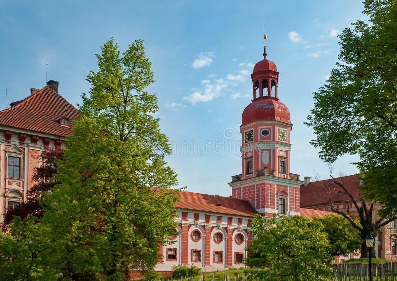 Mangårdsbyggnad Roudnice nad Labem royaltyfri bild