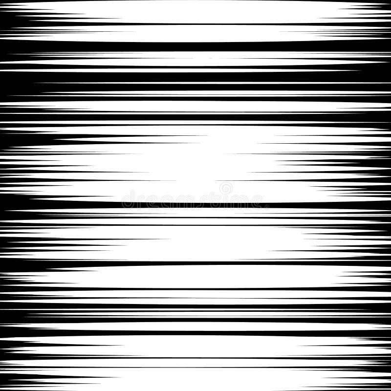 Manga速度排行传染媒介 难看的东西光芒例证 黑色白色 文本的空间 在manga或流行艺术样式的Starburst爆炸 皇族释放例证