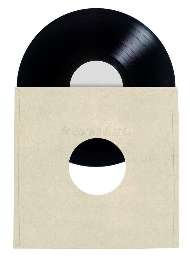 Manga de disco de vinilo en blanco foto de archivo libre de regalías