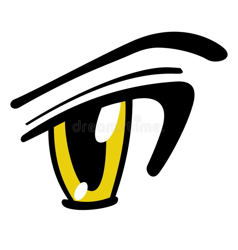 Manga Eye Vector jaune illustration stock