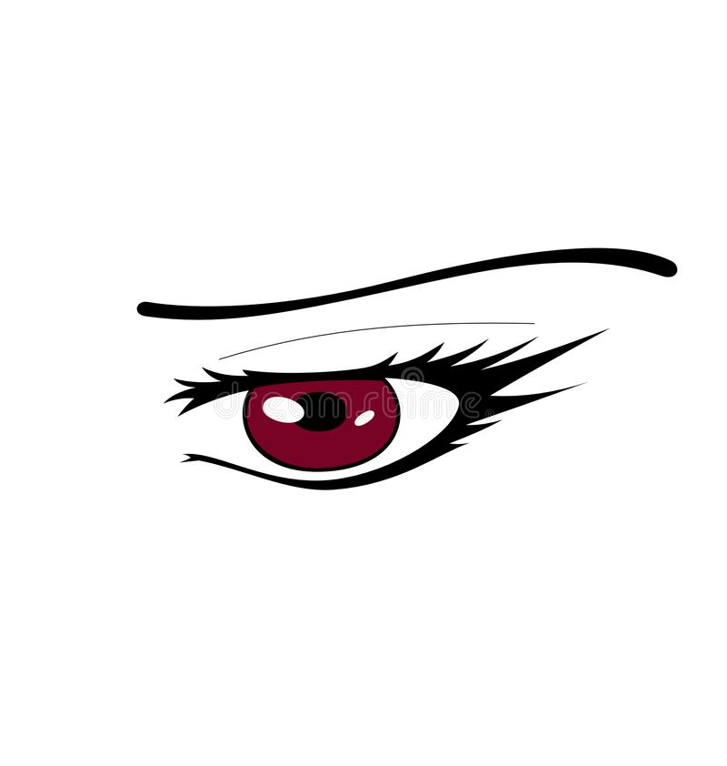 Manga Eye Vector rouge illustration stock
