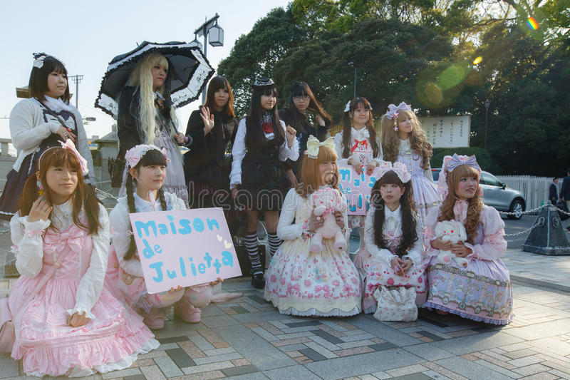 Manga Mädchen lizenzfreies stockbild