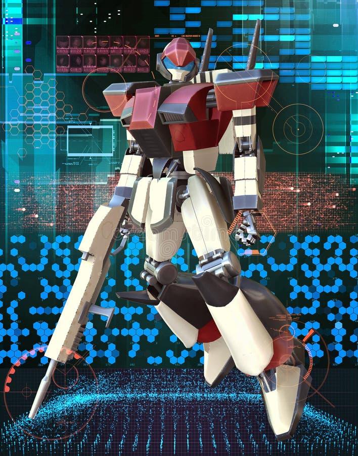 Manga Rieseroboter stock abbildung