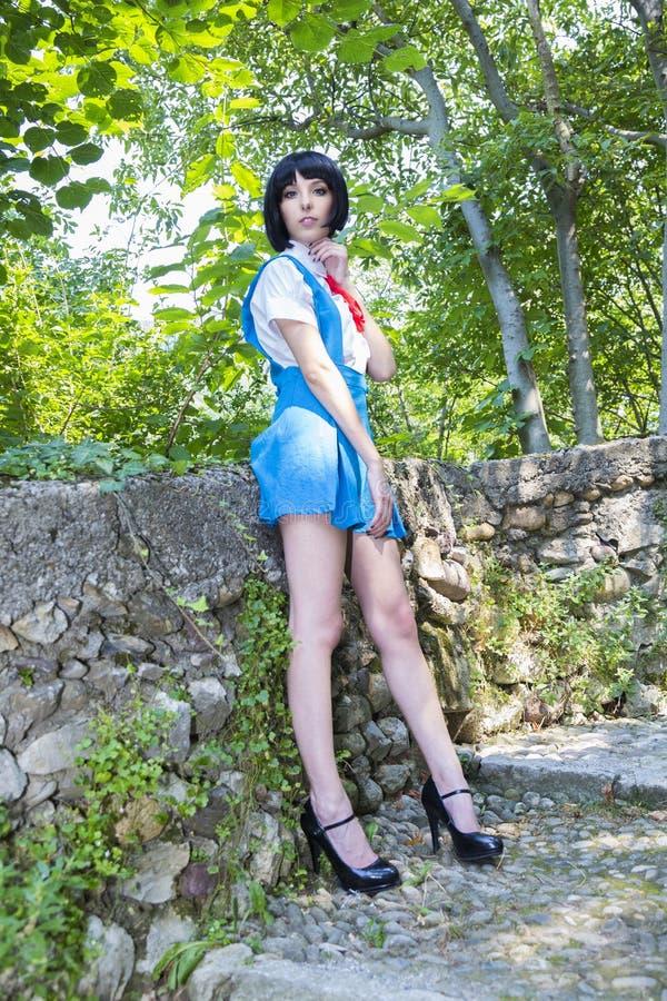 Manga Schoolgirl stock foto