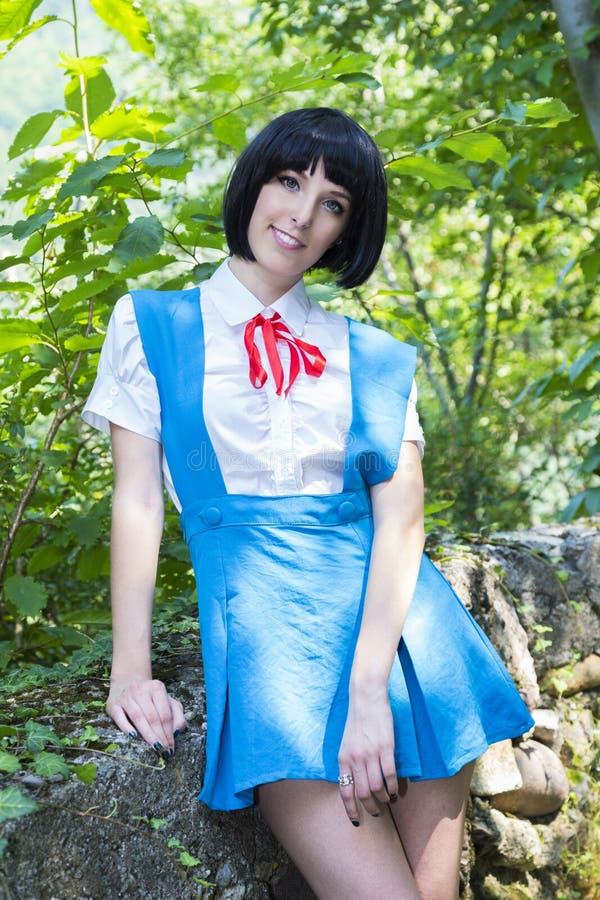 Manga Schoolgirl stock foto's
