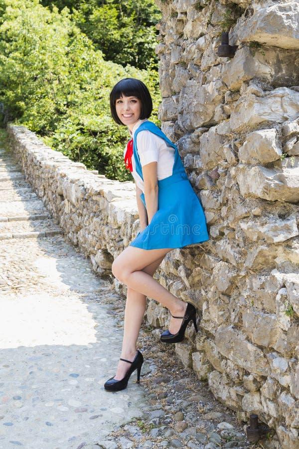 Manga Schoolgirl stock fotografie