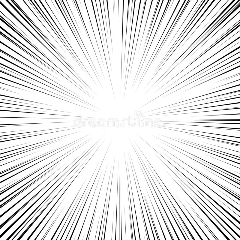 Manga-snelheidskader, superheldenactie, explosieachtergrond Concentrisch cirkelvormig patroon Willekeurig barsten, stralen, radia royalty-vrije illustratie