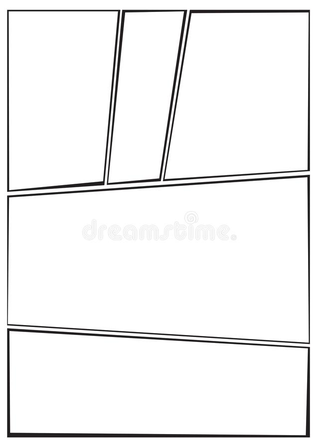 Manga Storyboard Layout Irregular A Stock Illustration