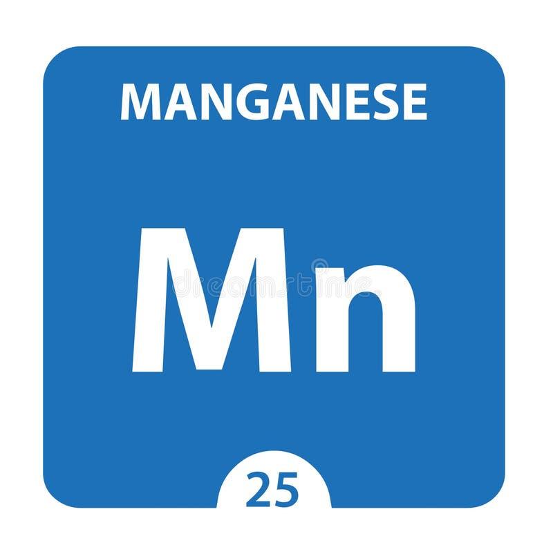 Mangaan Chemical 25 element van periodiek systeem Achtergrond voor molecuul en communicatie Mangaan Chemical Mn, laboratorium en stock illustratie
