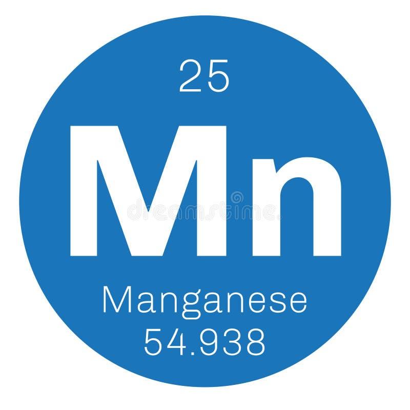 Mangaan chemisch element stock illustratie