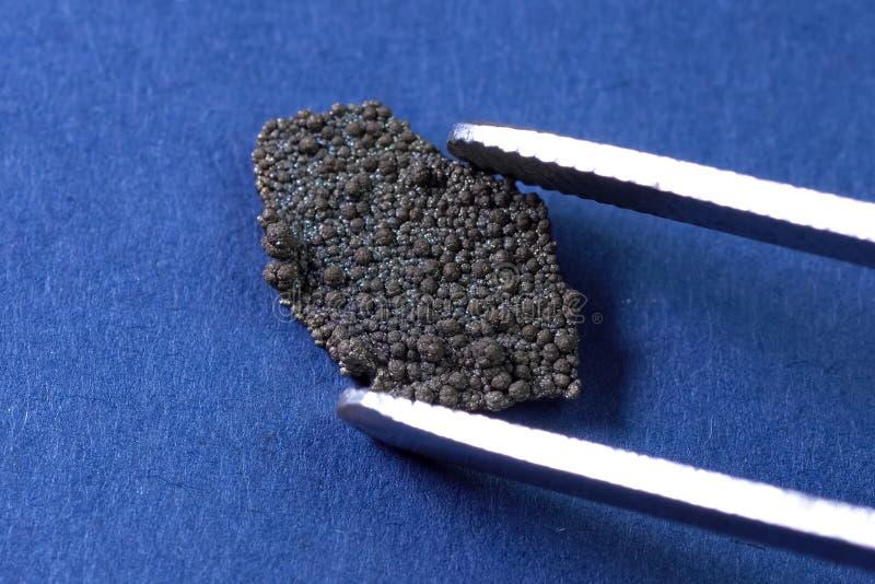 Mangaan, zuiver mangaanmetaal stock afbeeldingen