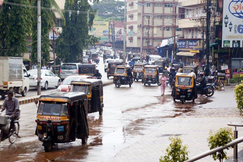 Tráfico en Mangalore foto de archivo libre de regalías