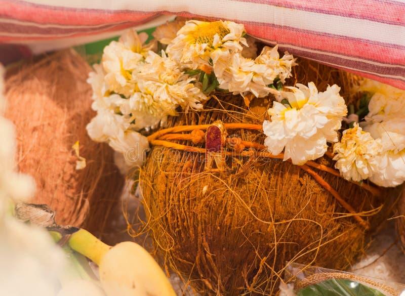 mangalyam,传统印度婚礼 免版税库存照片