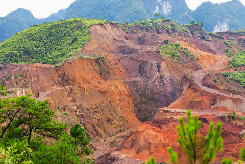 Manganese ore Mining royalty free stock photo